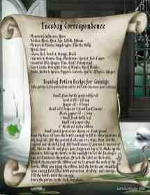 Tuesday Correspondence Magic Spell Page