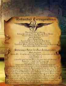 Wednesday Correspondence Spell Page