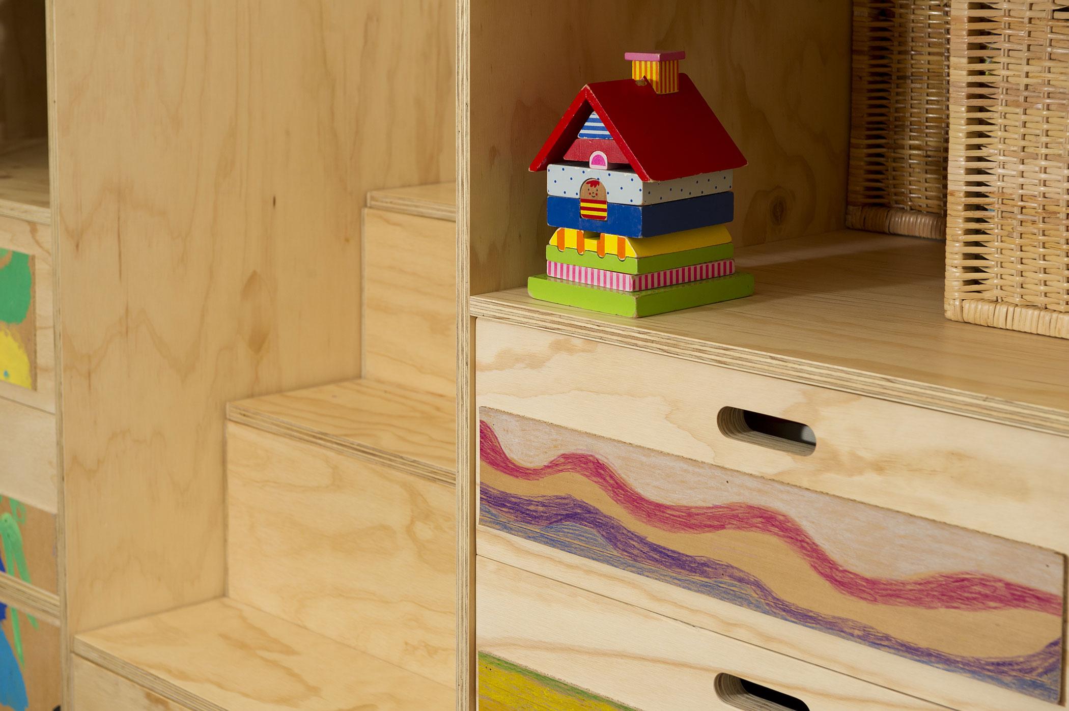 Cameretta bambini in legno su misura