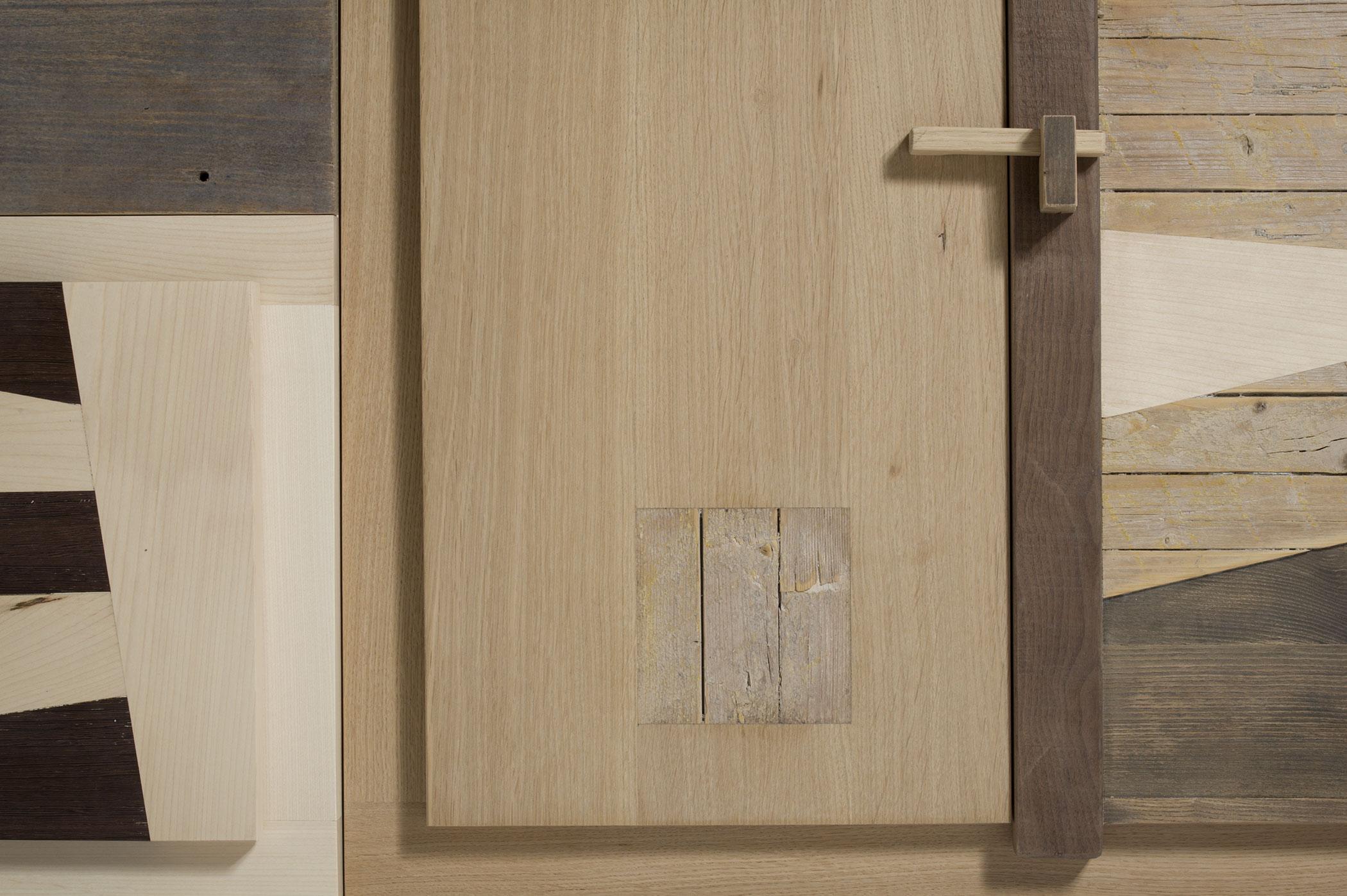 Bancone in legno massello per zona living. falegnameria Laquercia21. Design artigianale su misura per la tua casa