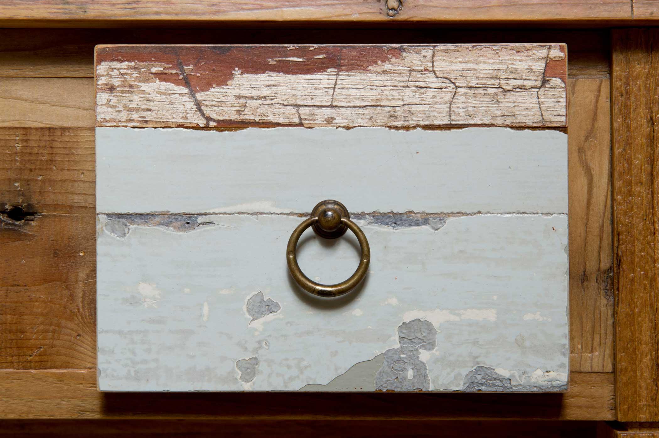 Cassetto per mobile bagno in legno vintage fatto a mano