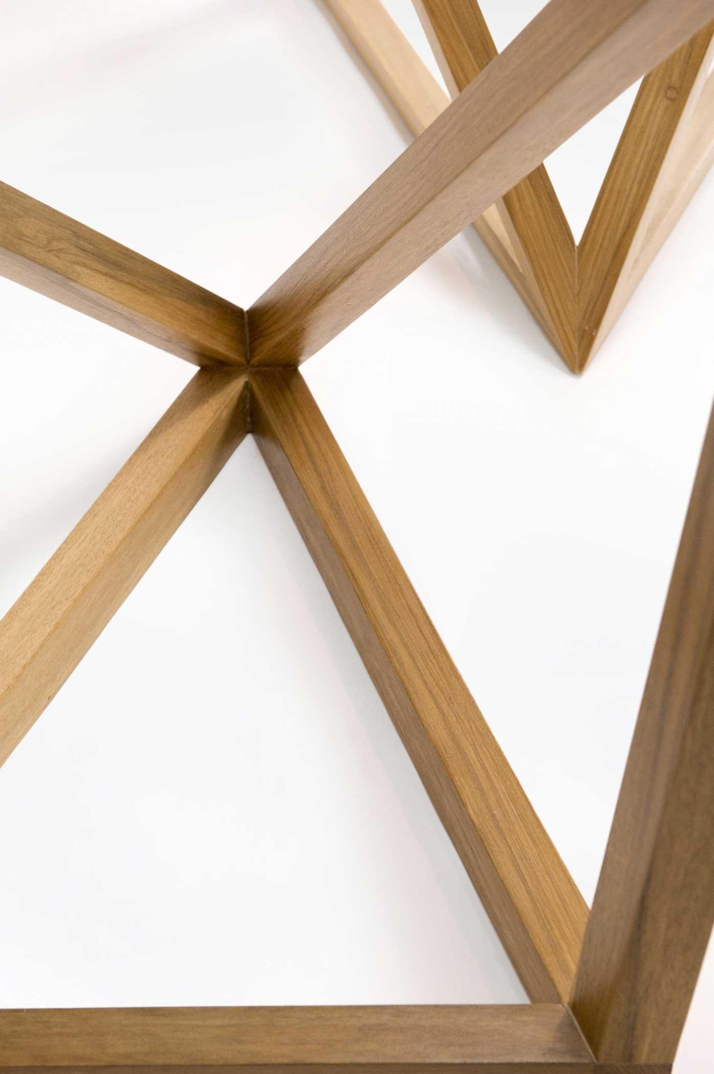 Tavolo artigianale in legno nuovo e legno antico