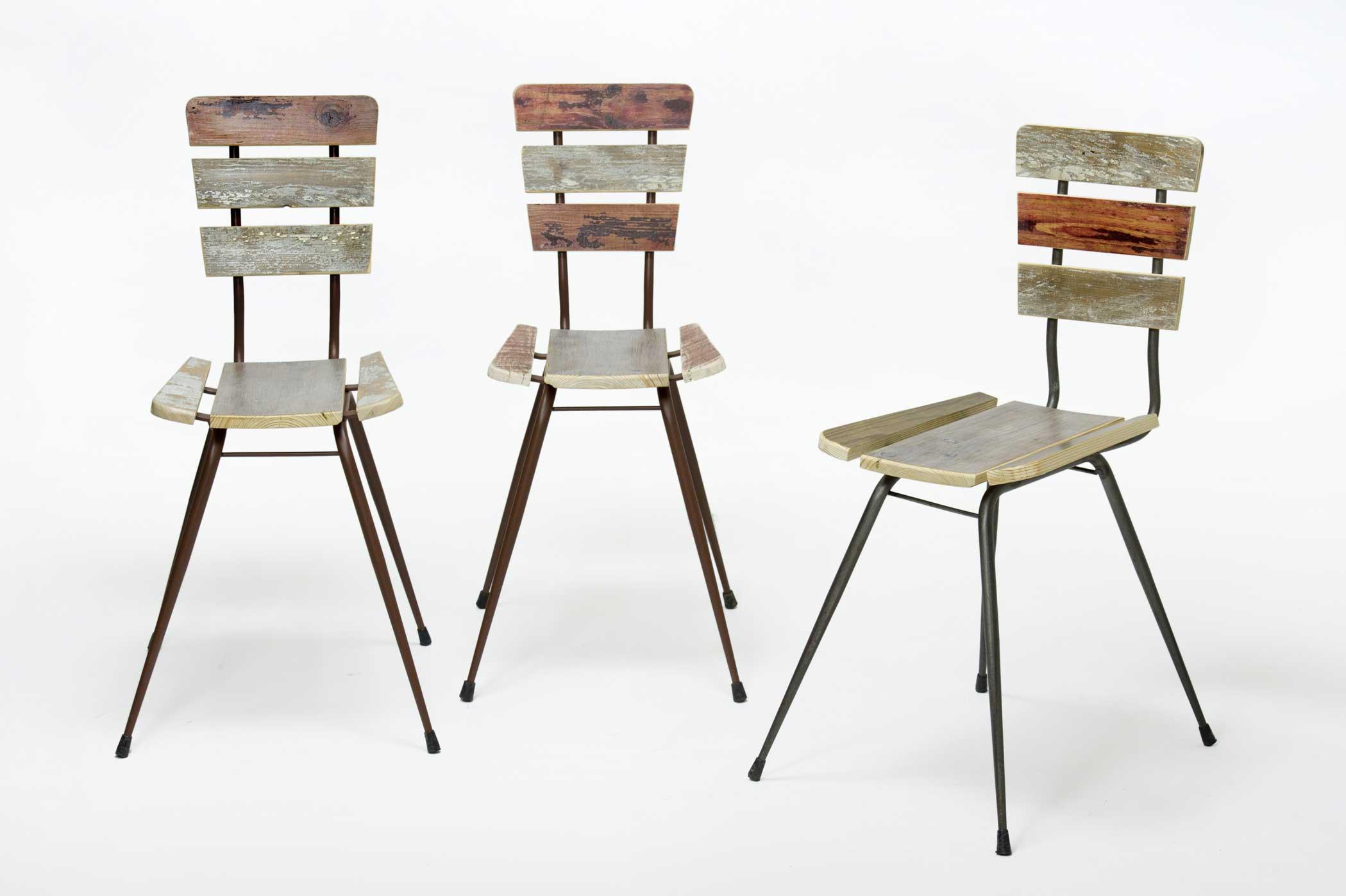 Sedie vintage uniche ed originali legno chiaro