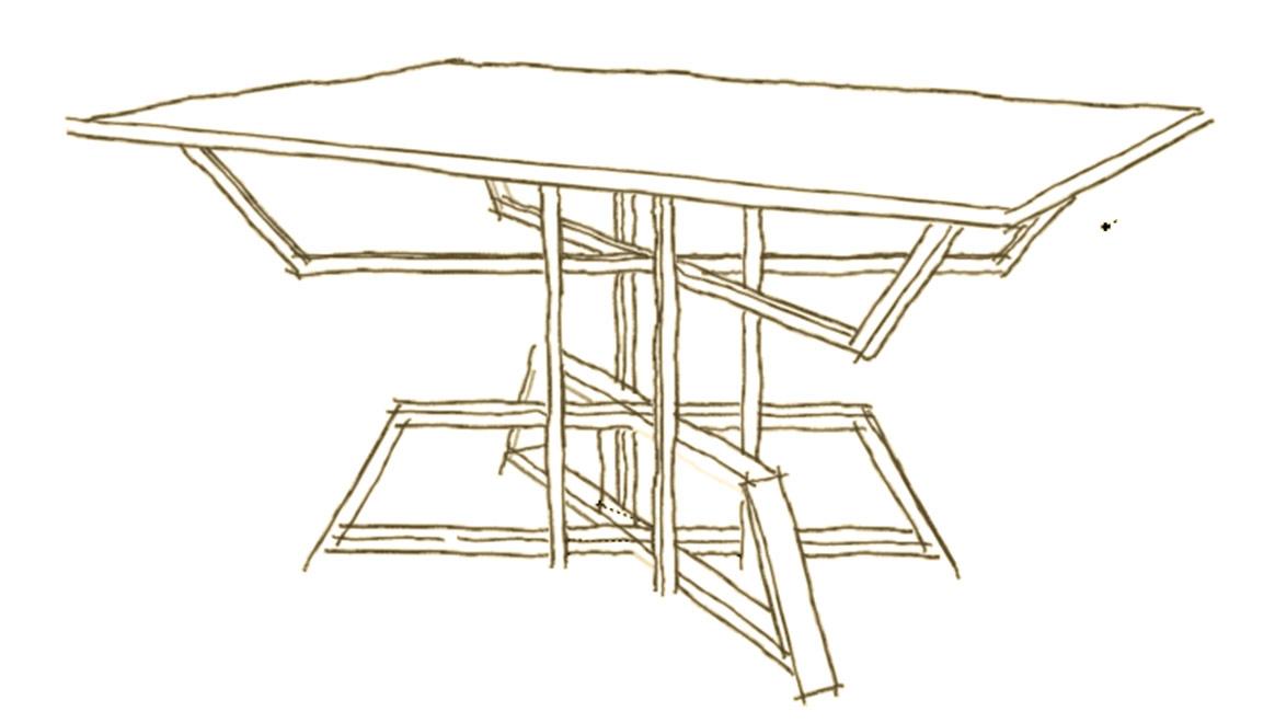 Progettare un tavolo su misura in legno e cristallo