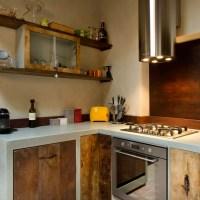 Ante in legno per le cucine in muratura e resina