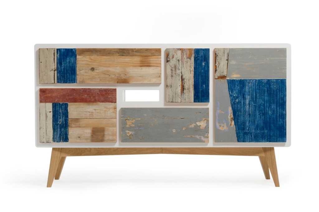 Madia moderna in legno di recupero su misura