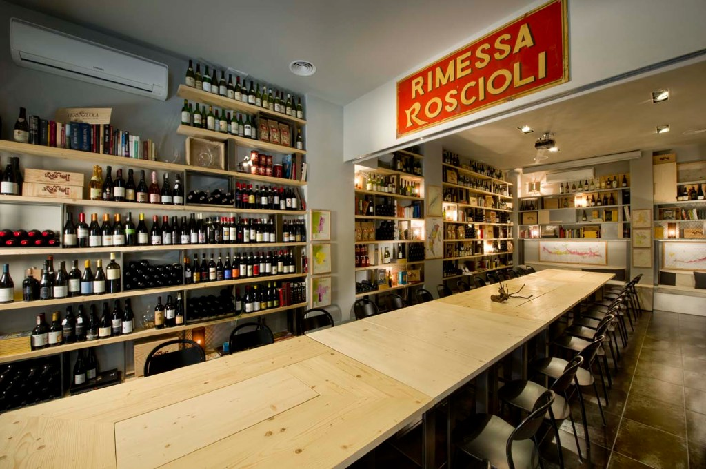 Rimessa Roscioli: grande tavolo in legno e ferro de Laquercia21
