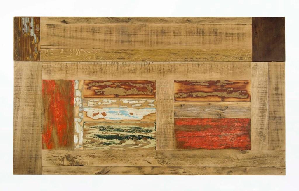 piano tavolo artigianale in legno di recupero scrap colorato