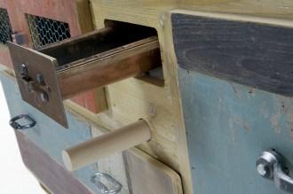 mobile per lavorare la pasta fresca con mattarello in legno