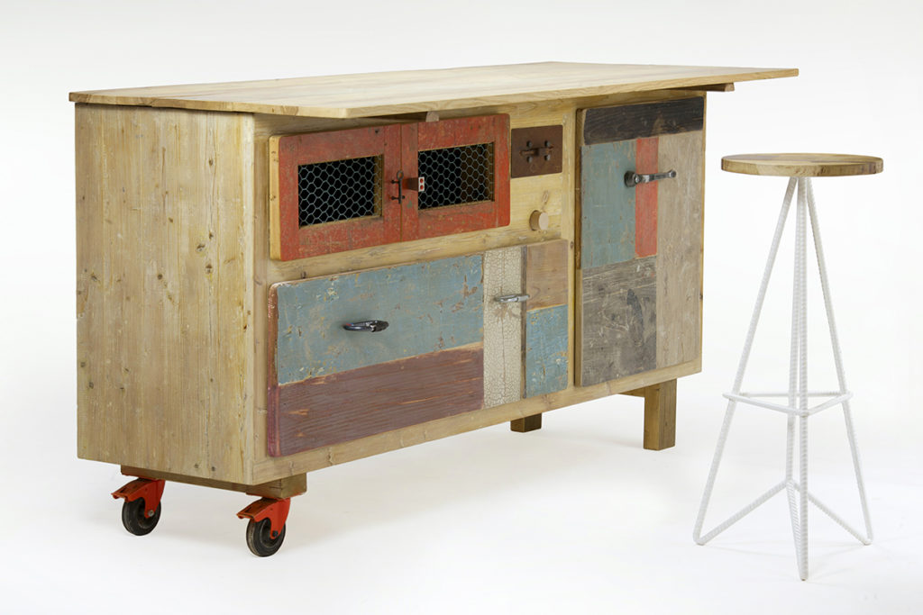 Credenze da cucina legno moderne industrial  Laquercia21