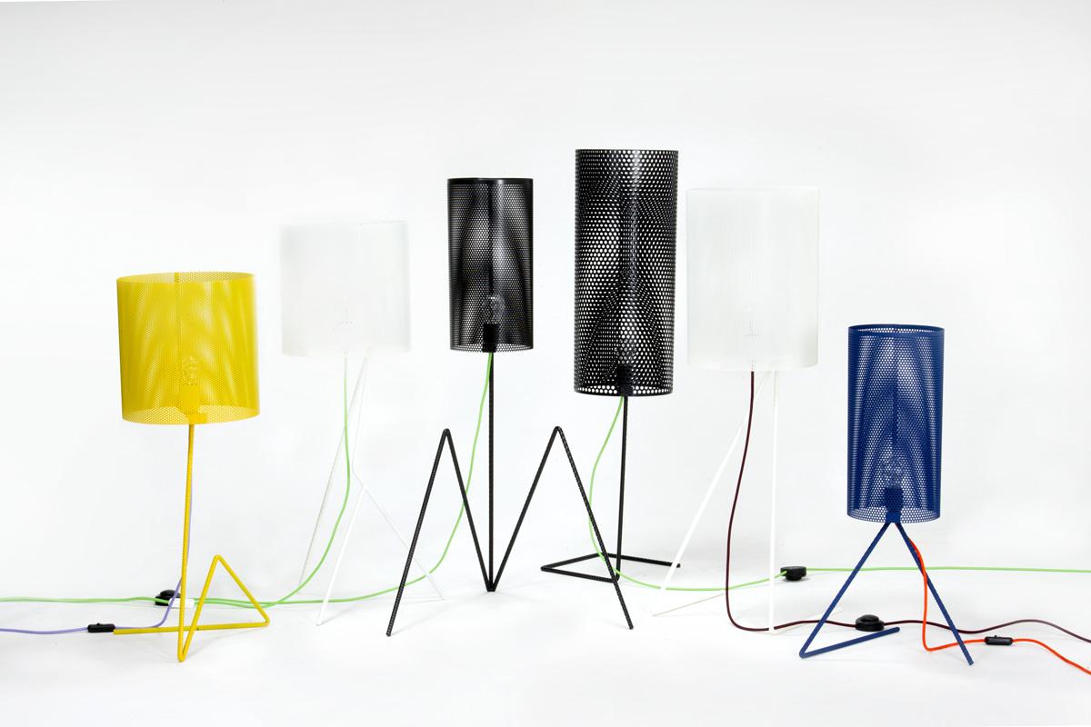 lampade in ferro colorato design artigianale