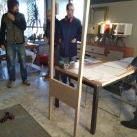 Progettazione di interni: la cabina armadio in rovere e maniglie in pelle