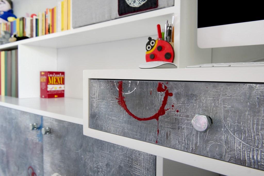 parete attrezzata per camera ragazzi e bambini