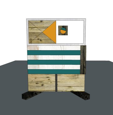 progetto mobile comodino con legno di recupero Laquercia211