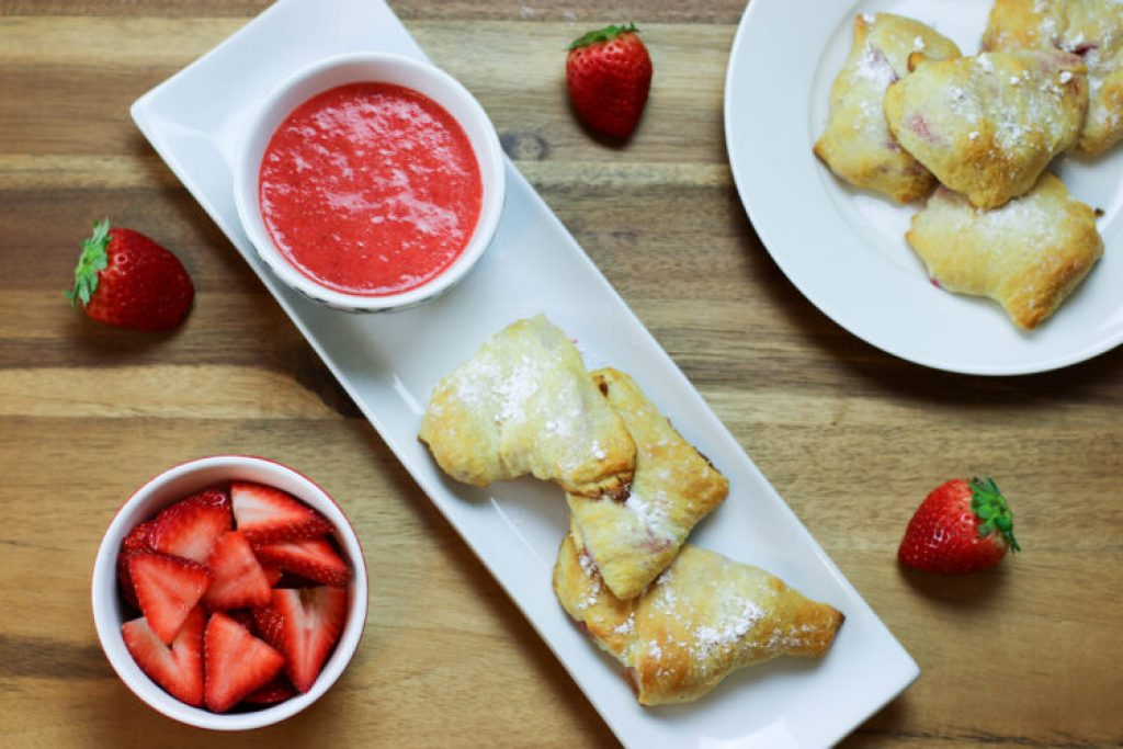 Strawberry and Cream Cheese breakfast pastries
