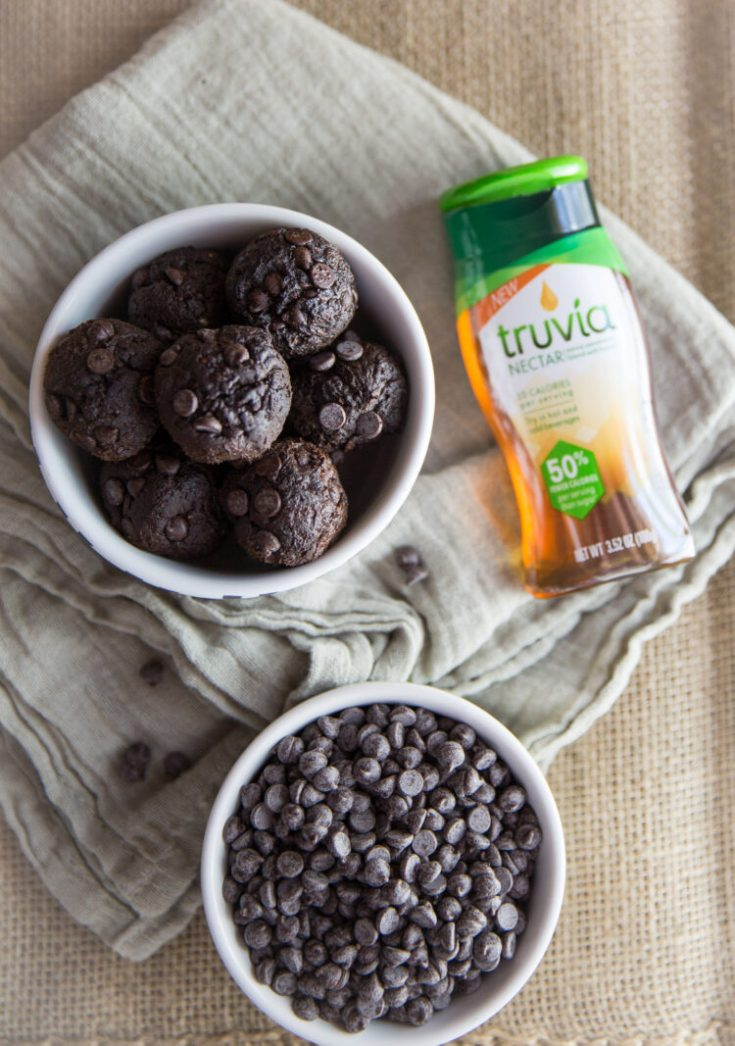 Protein Brownie Bites. The best guilt free brownies that are healthy! #Sponsored #UseNectar @Truvia