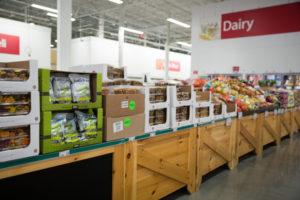 Bus Wholesale Club produce aisles