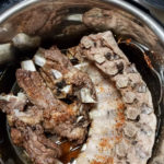 cooked beef ribs in an instant pot