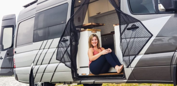 Lara a solo female traveler in her sprinter camper van