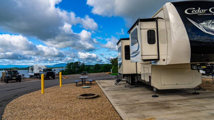 my campsite (#132) at Anchor Down RV resort