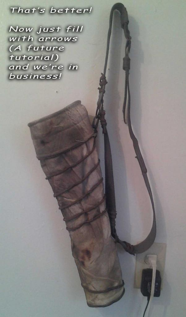 HOW TO MAKE THE TOMB RAIDER 2013 QUIVER P2