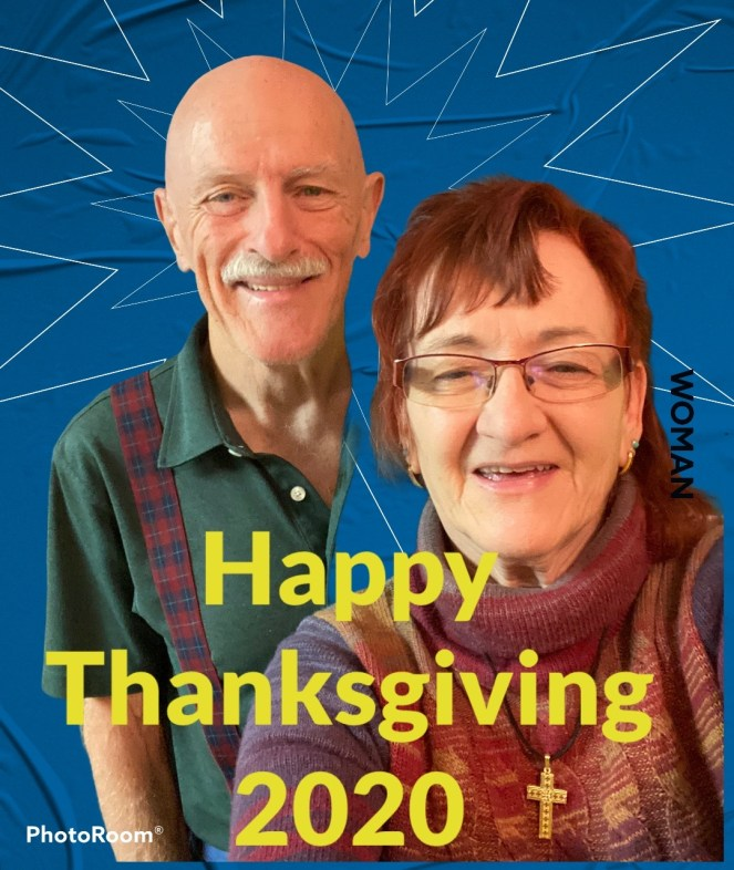 Lin & Larada wish you a Happy Thanksgiving after pizza