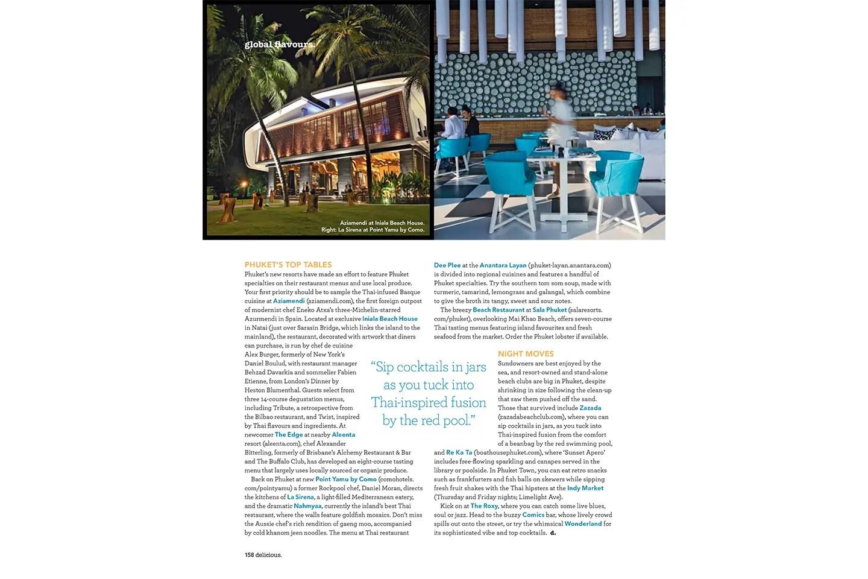 Delicious Magazine —Phuket. Lara Dunston. Photography: Terence Carter.