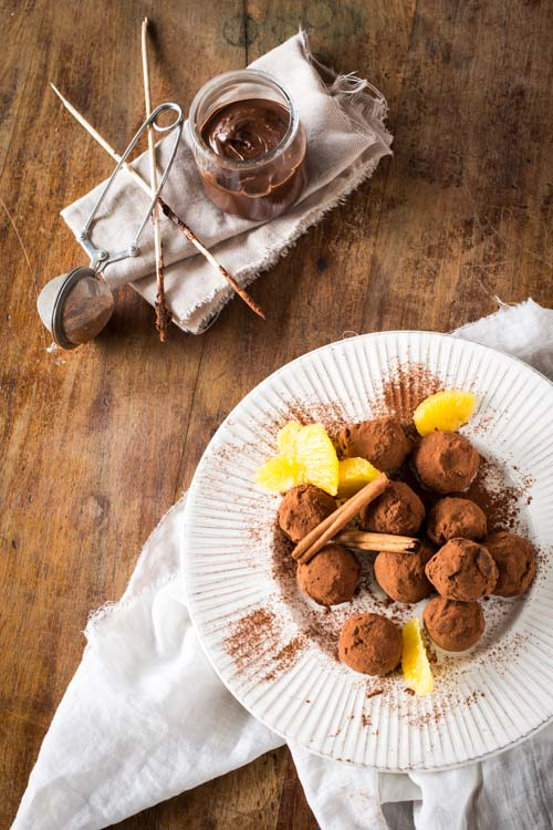 Truffes au Chocolat, Orange & Cannelle
