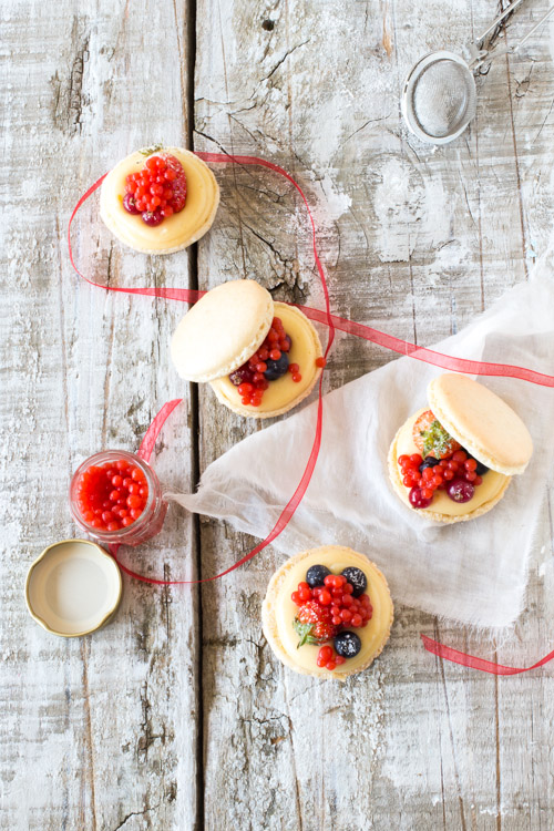 Perles de Fraises et Macarons façon toast