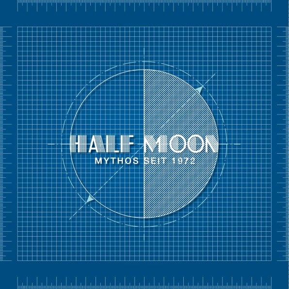 Blaupause Studenten-Fest  Halfmoon Logo
