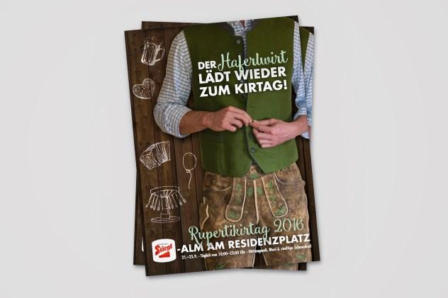 Flyer des Haferlwirts | Rebranding