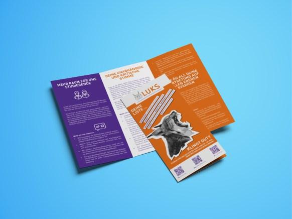 Werbemittel ÖH-Wahlen |Folder Innenseiten | LUKS |Liste unabhängiger und kritischer Studierender