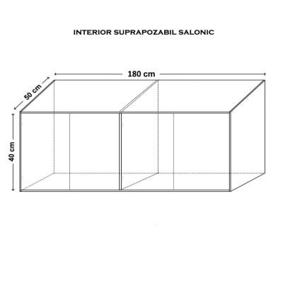 Suprapozabil Salonic 4 usi, 180x40x50 cm