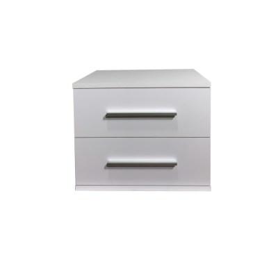 Noptiera Alegria cu 2 sertare, Alb, H40xL50XA40 cm