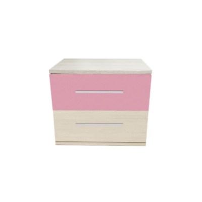 Noptiera Alegria cu 2 sertare, Ferrara / Roz, H40xL50XA40 cm
