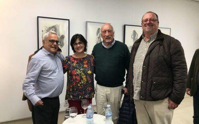 Los periodistas Manuel Vicent y Juan Cruz en La Ranilla Arte Cultura.