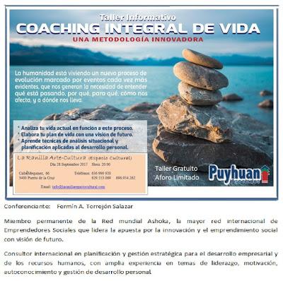Talleres  para los próximos días. Coaching Integral de Vida (28 de Septiembre)  y Programación Neurolinguística (7 de Octubre)