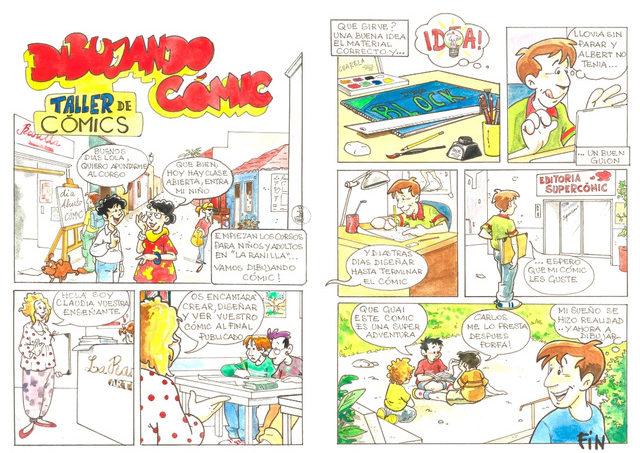 ¡Comienza un  taller de cómic en La Ranilla! Todos los jueves por la tarde. Niños y adultos