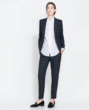 Conjunto de calças e blazer, Zara