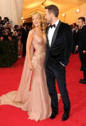 Blake Lively e Ryan Reynolds em Gucci