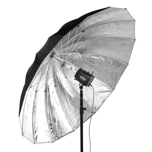 "Flashpoint 16-rib 86"" 7' Parabolic Silver Umbrella"