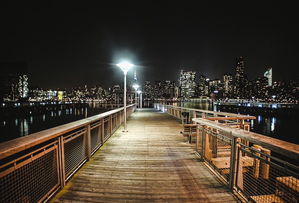 NYC Night Time | Long Island City Piers by Lara Photography