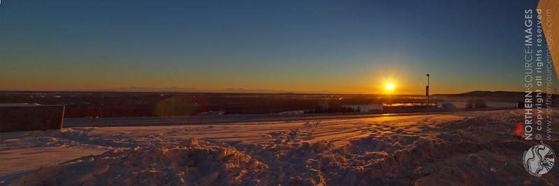SUNSET FROM THE WEST RIDGEFAIRBANKS, ALASKA