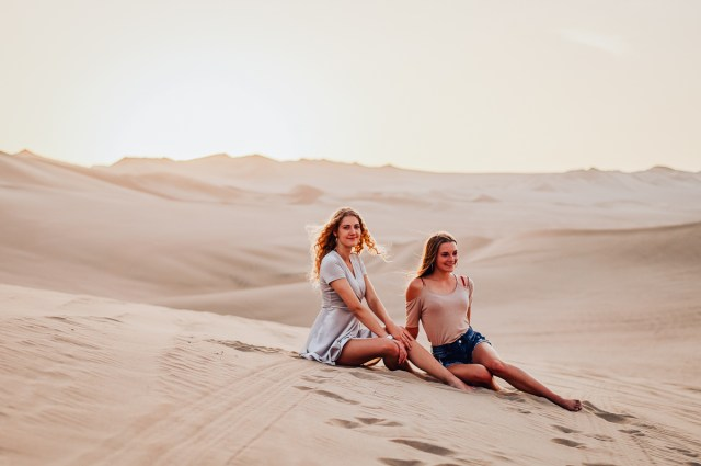 2 girls in the desert