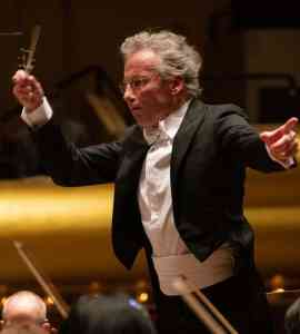 Conductor conducting the New York Philharmonic