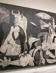 GUERNICA photo of painting in a museum
