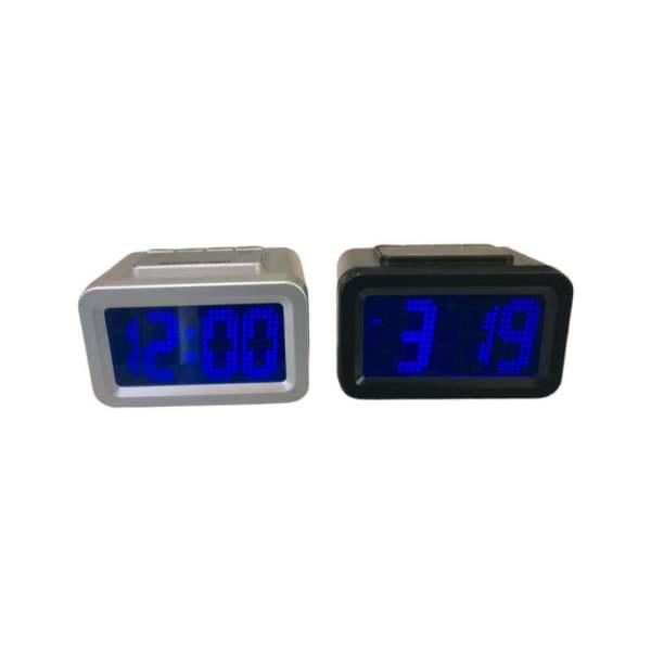 Relógio de mesa digital com visor ampliado