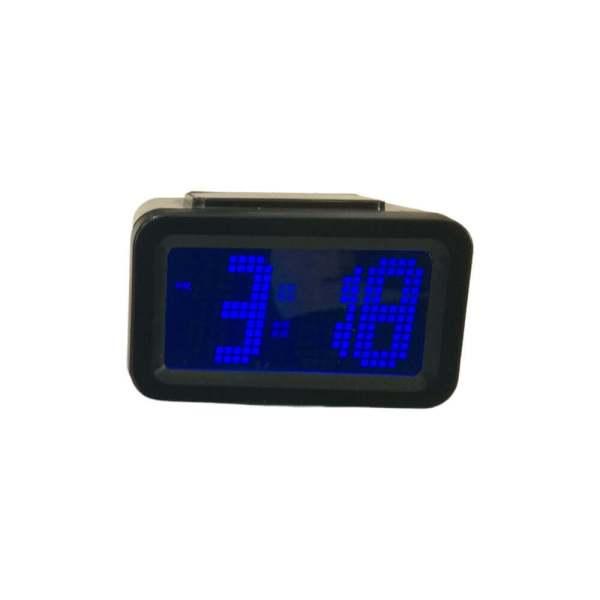 Relógio com visor ampliado, cor preto