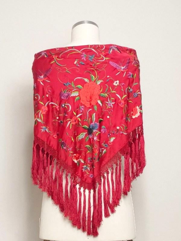 Spanish triangular shaped shawl