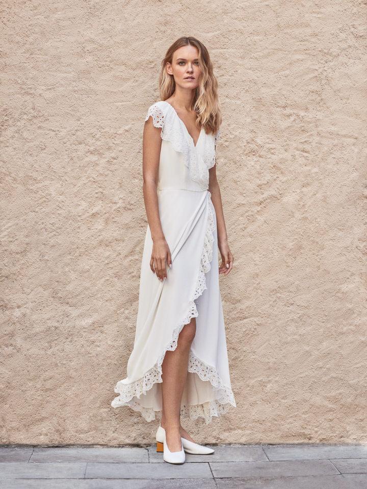 Vestido de novia vintage con encaje bordado